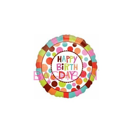 Round Dot Birthday Balloon