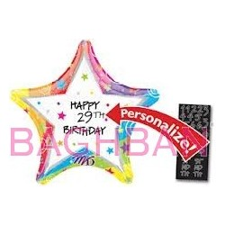 Star Personalize Birthday Balloon