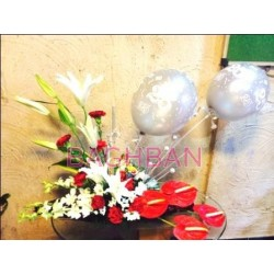 Sliver Anniversary Bouquet