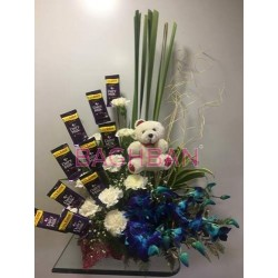 Seewt Teddy &Chocolate Bouquet