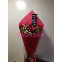 Red Rose &chocolate Bouquet